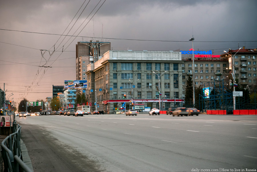 The center of Novosibirsk, Krasny Prospekt