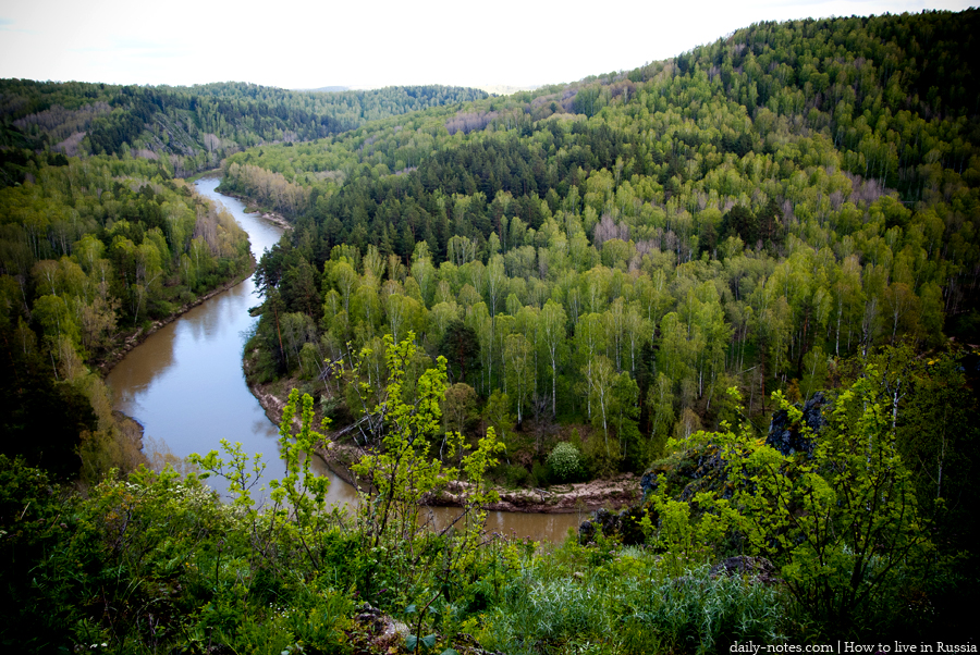 Berd rocks view, the Novosibirsk area