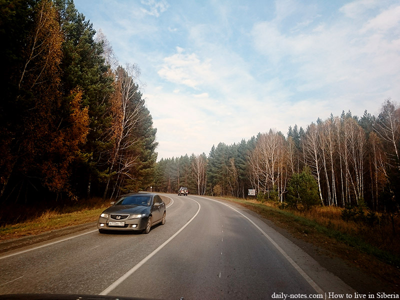 Autumn Siberian highway