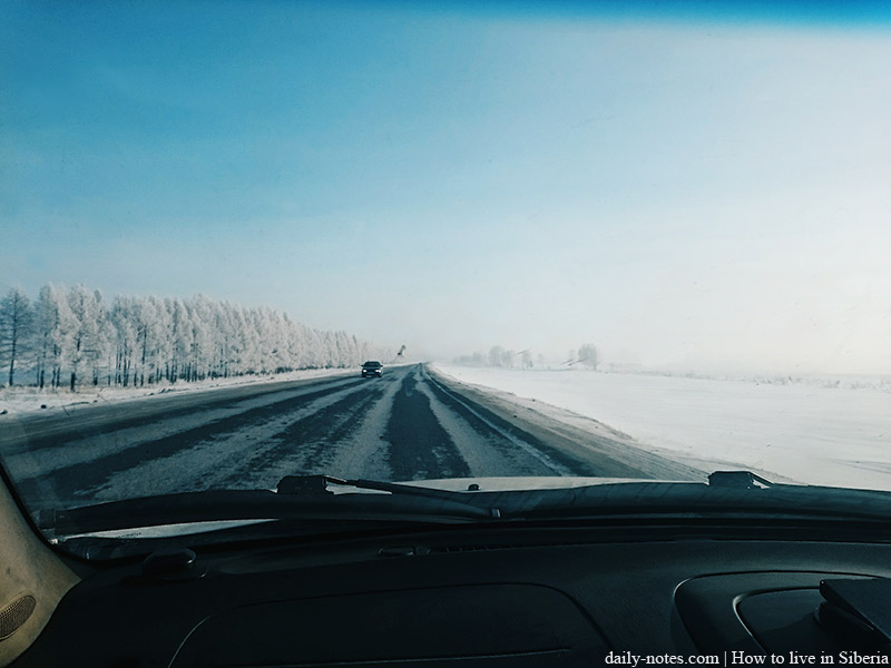 Siberian winter highway