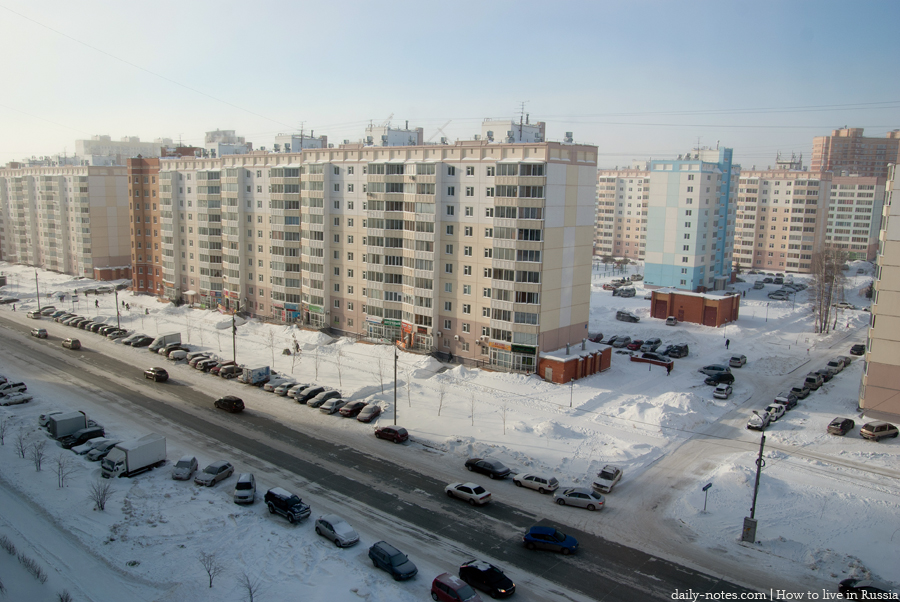 Frost in Novosibirsk