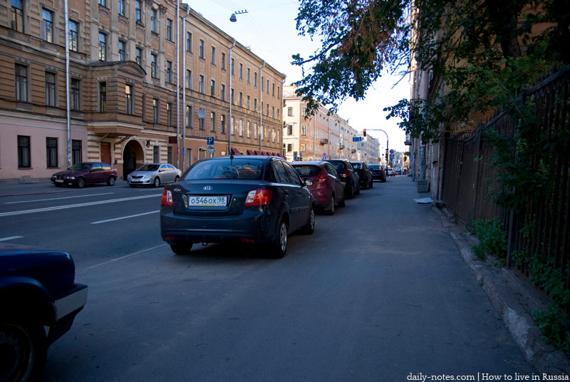 Saint Petersburg, cars in the street