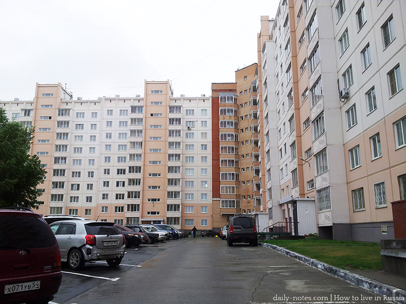 Yard and parking area, Russia