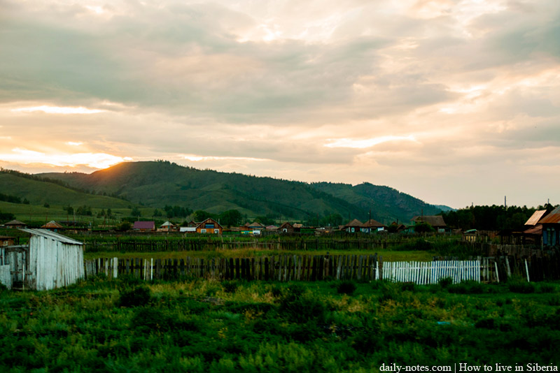 Sunset in Khakassia, Askiz area